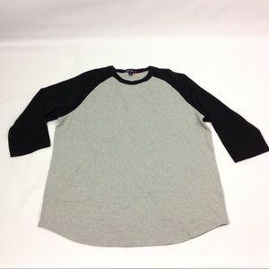 New Men Tshirt Top Gray Black XL